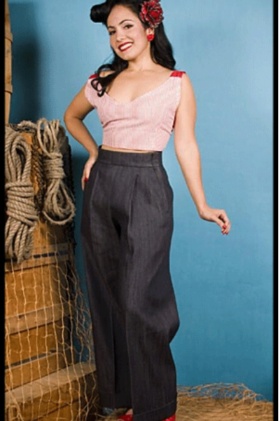 High Waisted--Vintage Style Hollywood Pants