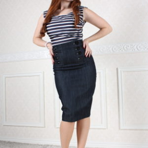 High Waisted– Vintage Style SAILOR SKIRT