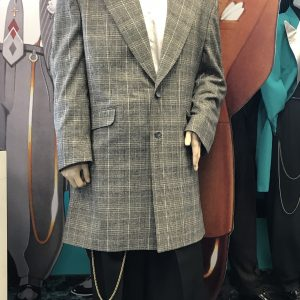 Charcoal Plaid with Gold Thread Zoot Suit