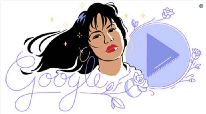 Google Honors Mexican-American Singer Selena with Doodle