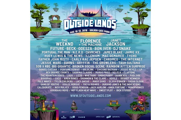 Outside Lands Announces 2018 Lineup