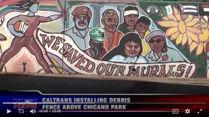 Caltrans installing debris fence above Chicano Park