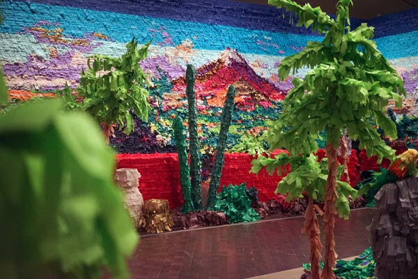 Piñata-style artworks and sculptures by Justin Favela that celebrate his Guatemala-Mexican-American heritage