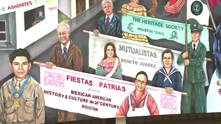 Heritage Society unveils new mural in Houston dedicated to Mexican-American history and culture