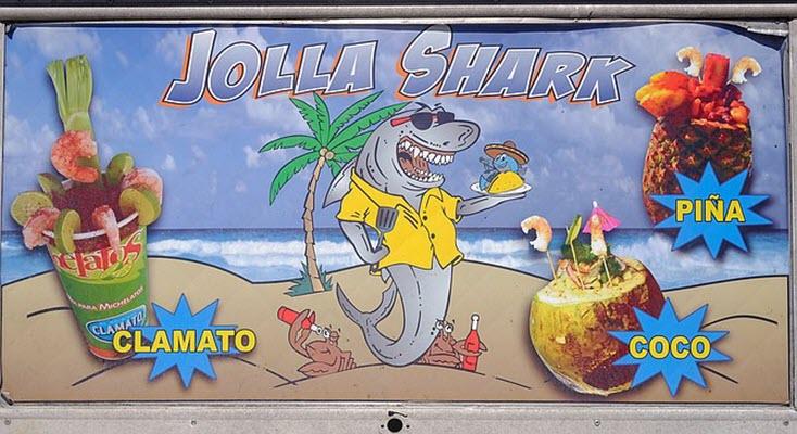 Jolla Shark moves across I-5 from Logan