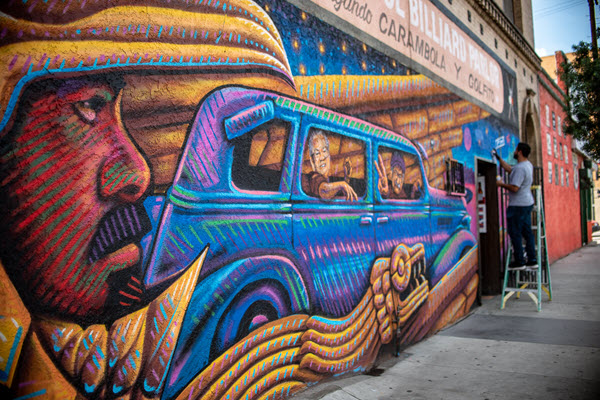 A New Mural For Boyle Heights Commemorates the Past and Comments on Gentrification of Today