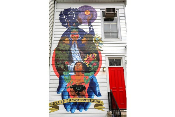 New mural on Rutgers Center of Latino Arts and Culture emphasizes tradition, representation