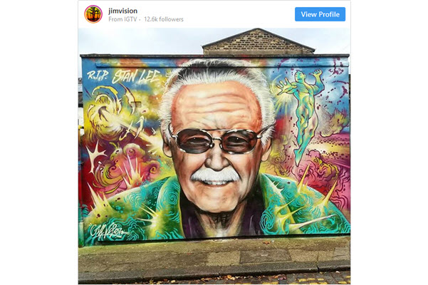 Three Stan Lee Street Murals Spring Up – More to Come?