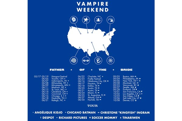 Soccer Mommy, Angélique Kidjo, Chicano Batman and more to open for Vampire Weekend