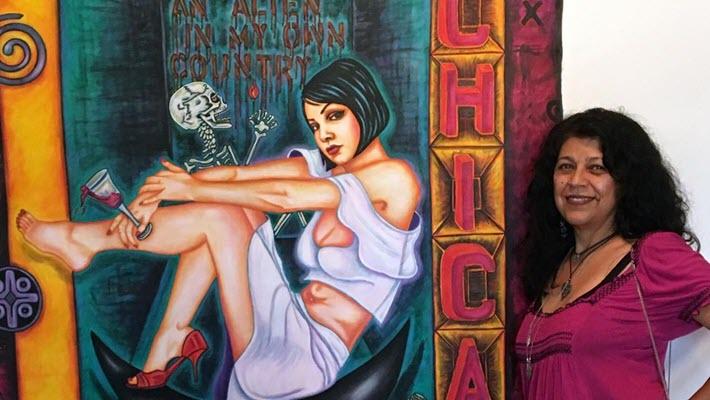 La López Returns: Famed Chicana painter Póla López is back for Qué Chola exhibit