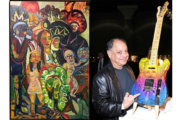 Misericordia in Dallas displays Mexican-American art with Cheech Marin Chicano guitars