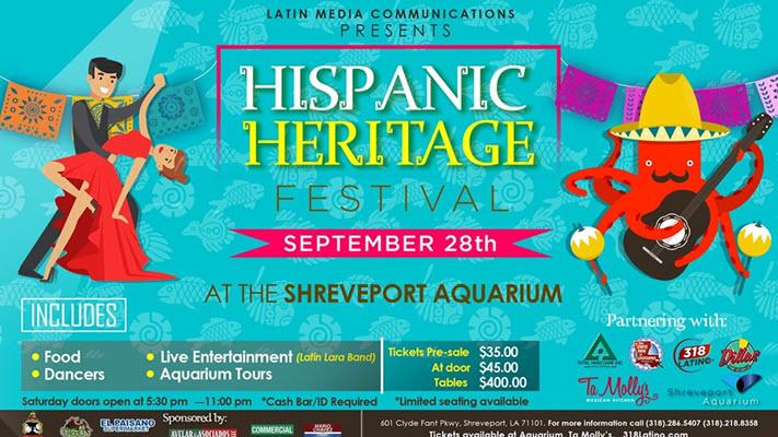 Shreveport Aquarium hosts Hispanic Heritage Festival September 28th