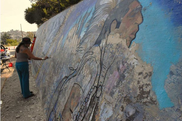 A Mount Washington mural is restored but not without challenges and hard feelings