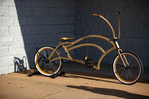 New Lenox craftsman builds '95% wood' lowrider bike, wins #RocklerBentWoodChallenge